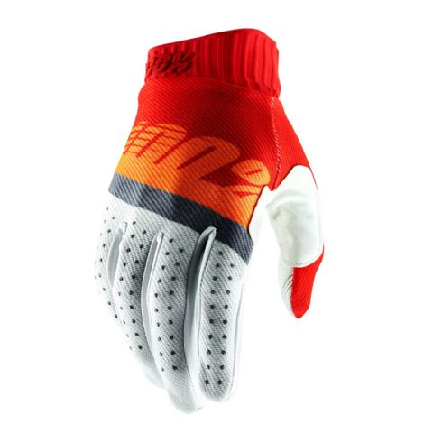 RIDEFIT 100% Glove Red/Fluo Orange/Slate Blue
